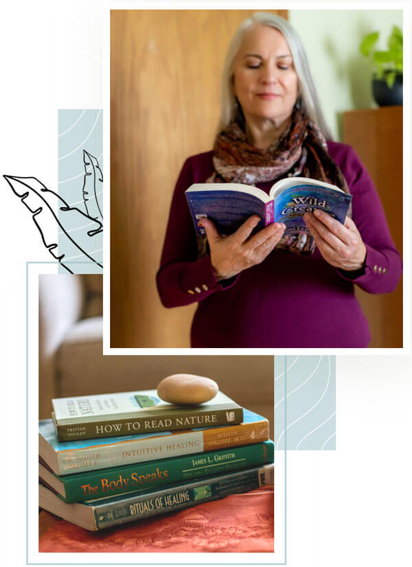 carolyn-reading-book-collage
